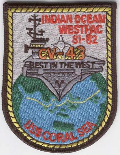 ' ' from the web at 'http://www.usscoralsea.net/images/8182wppatch.jpg'