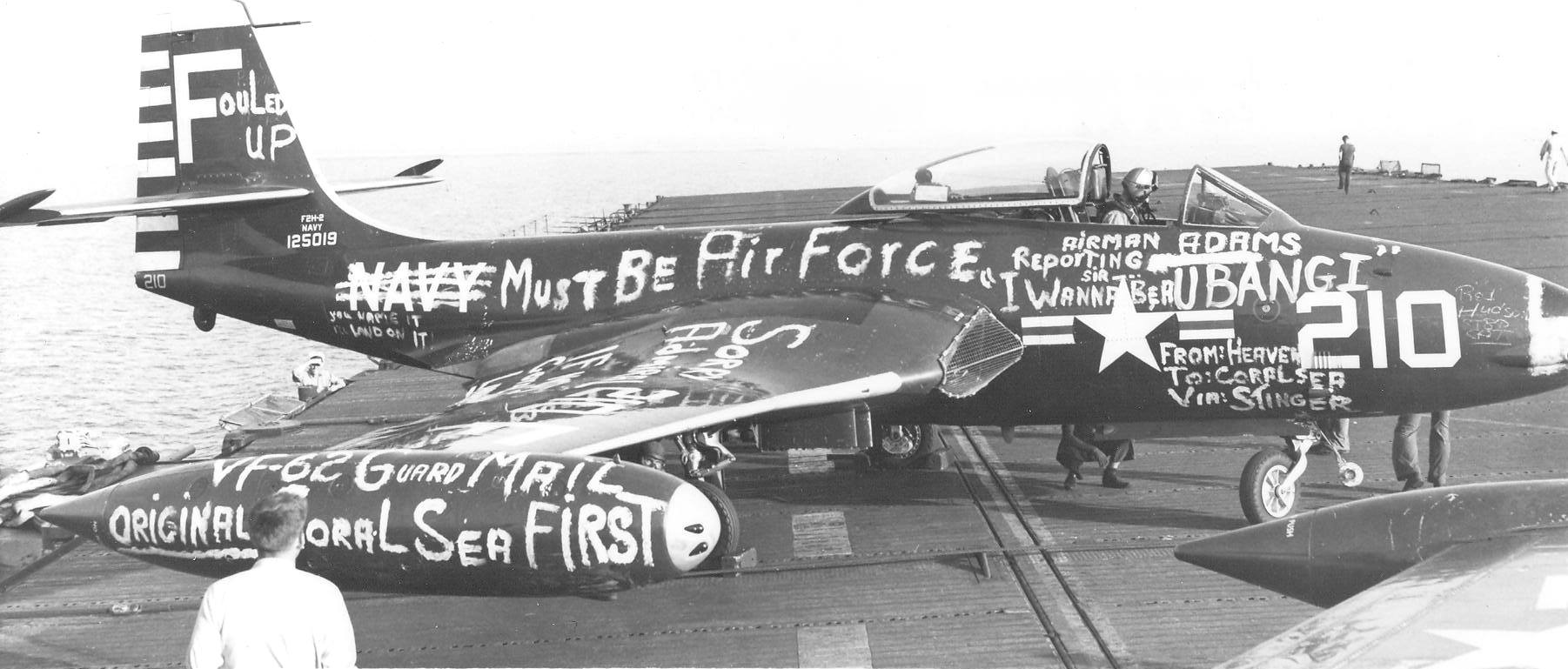 'Hi Resolution Photo Click Here' from the web at 'http://www.usscoralsea.net/images/CVB43_VF-62_USS_Wasp_1952.jpg'