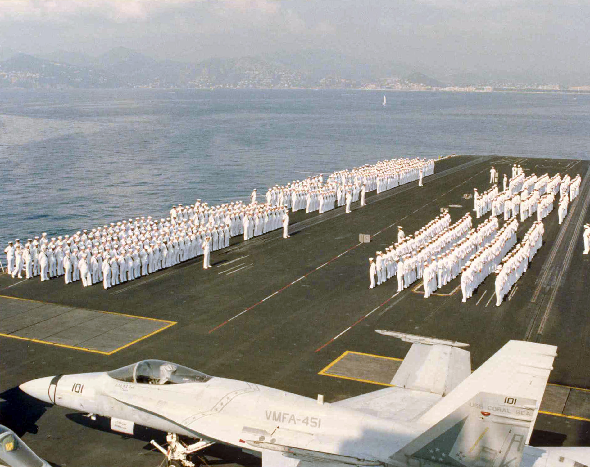 uss coral sea tribute site - pictures 1980 u0026 39 s