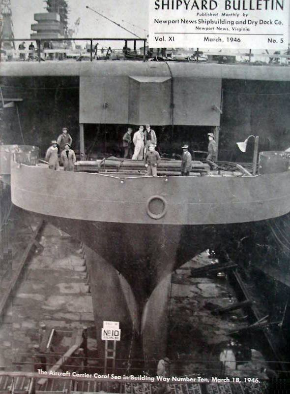 ' ' from the web at 'http://www.usscoralsea.net/images/cv4319460318construction.jpg'