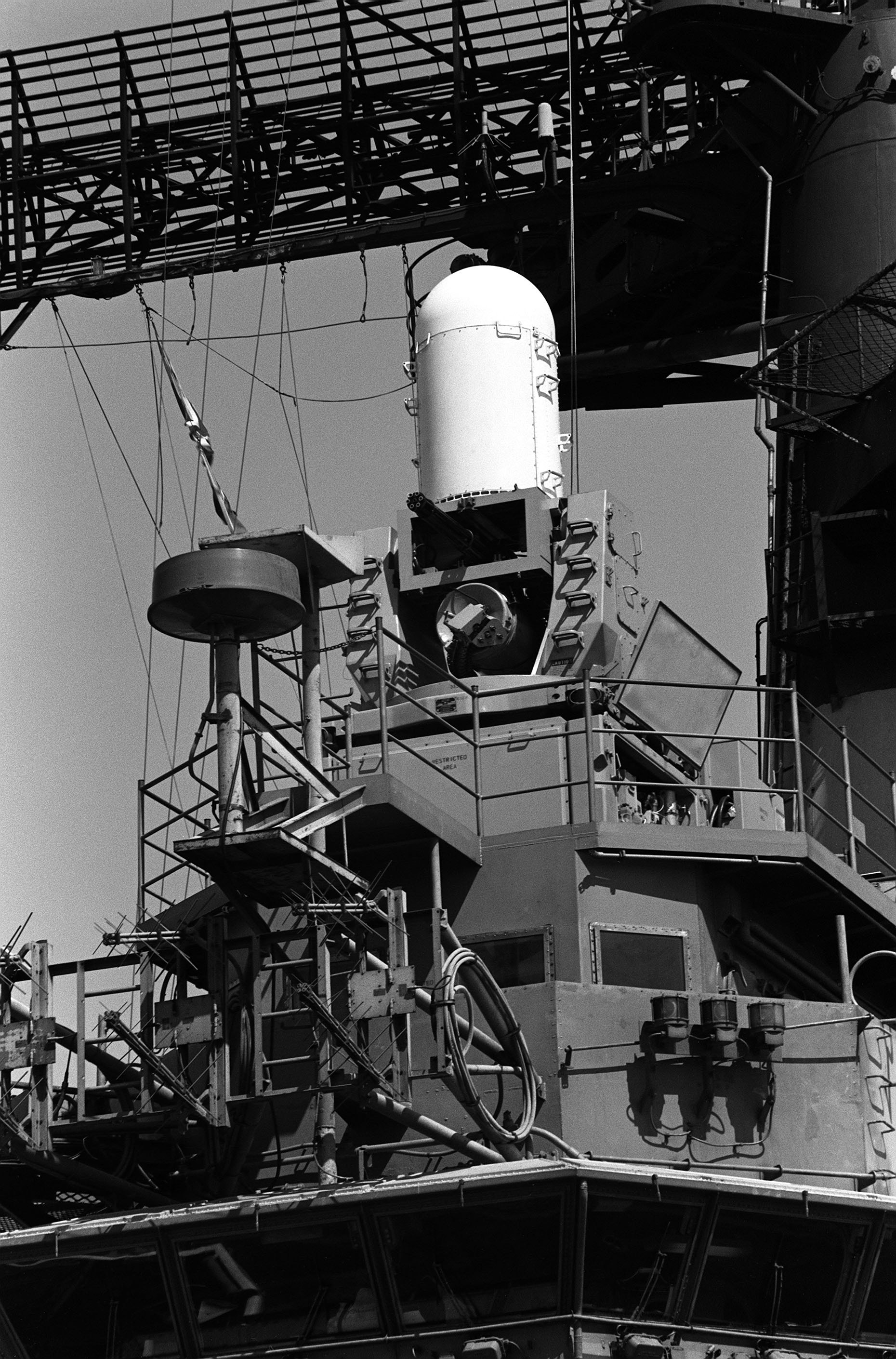 'Hi Resolution Photo Click Here' from the web at 'http://www.usscoralsea.net/images/cv43Mark16Phalanx.jpg'