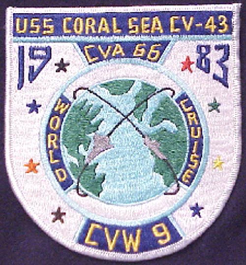 ' ' from the web at 'http://www.usscoralsea.net/images/cv43patch3.jpg'