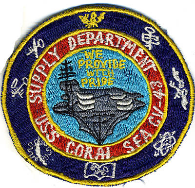' ' from the web at 'http://www.usscoralsea.net/images/cv43patchsupplyeb.jpg'