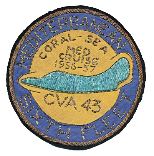 ' ' from the web at 'http://www.usscoralsea.net/images/cva435657medcruisepatch.jpg'