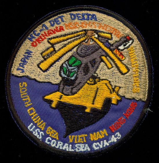 ' ' from the web at 'http://www.usscoralsea.net/images/cva43HC-11965patchEB.jpg'