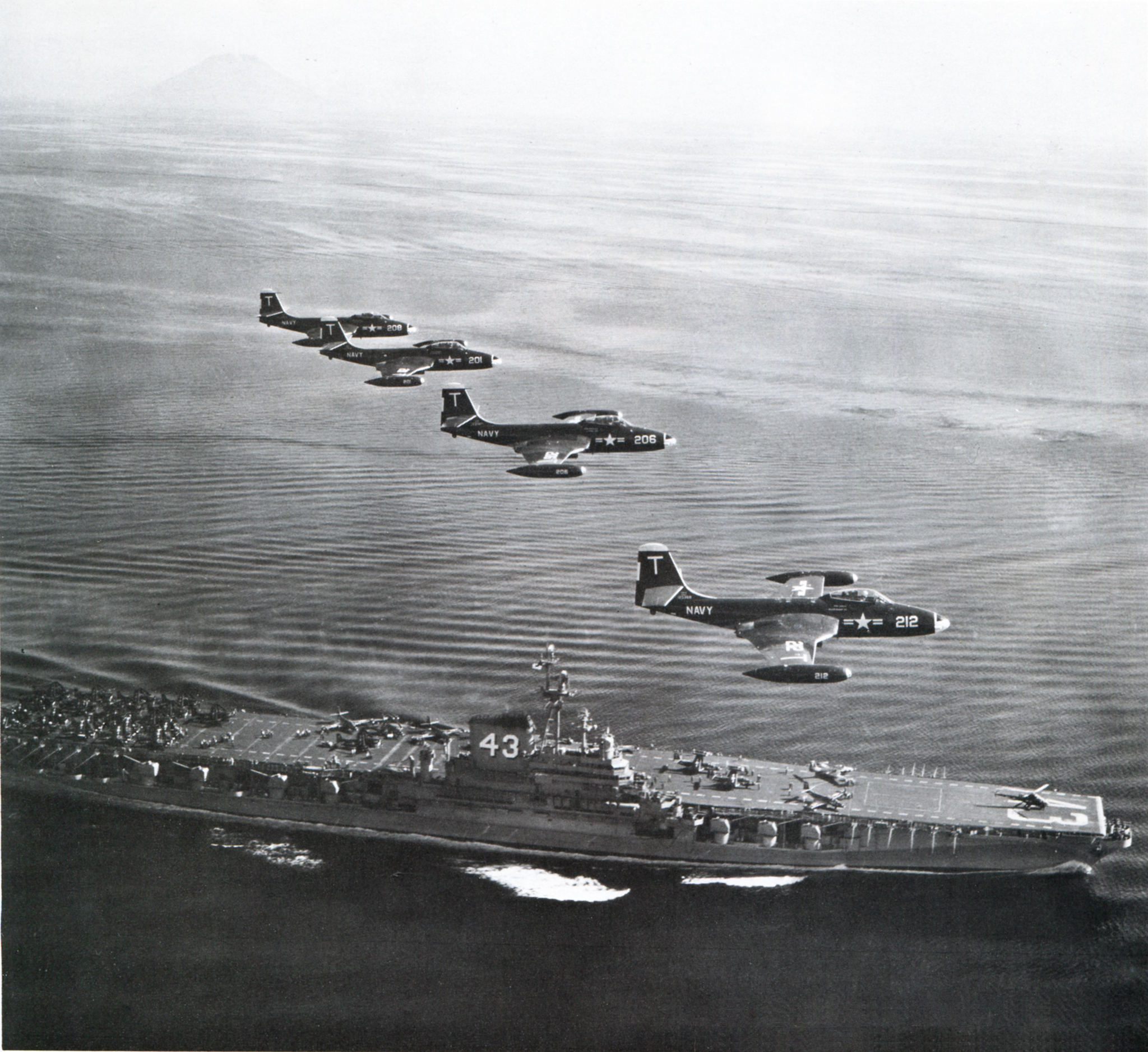'Hi Resolution Photo Click Here' from the web at 'http://www.usscoralsea.net/images/cvb4321jun1951VF-12F2H-2.jpg'