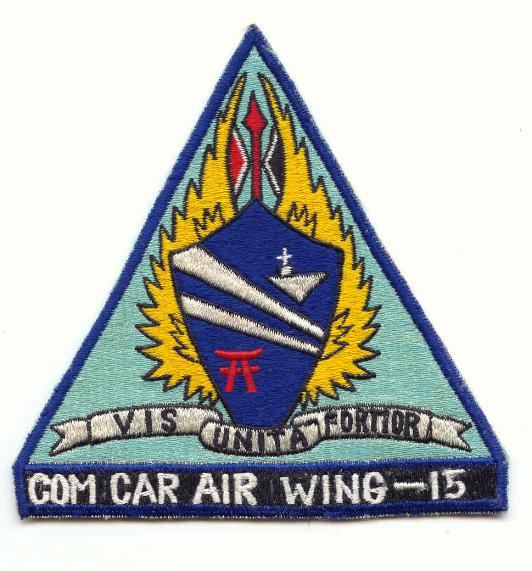 ' ' from the web at 'http://www.usscoralsea.net/images/cvw15patch.jpg'