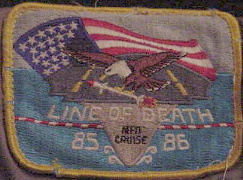 ' ' from the web at 'http://www.usscoralsea.net/images/lineofdeathpatch.jpg'