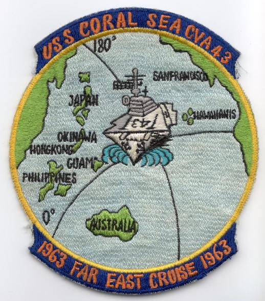 ' ' from the web at 'http://www.usscoralsea.net/images/patch1963.jpg'
