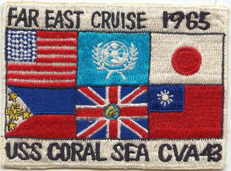 ' ' from the web at 'http://www.usscoralsea.net/images/patch1965fe.jpg'