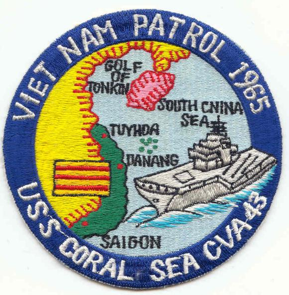 ' ' from the web at 'http://www.usscoralsea.net/images/patch1965vn.jpg'