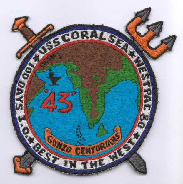 ' ' from the web at 'http://www.usscoralsea.net/images/patch1980gonzo.jpg'