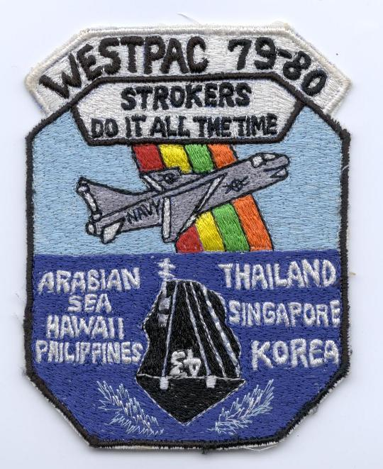 ' ' from the web at 'http://www.usscoralsea.net/images/patch7980strokera7.jpg'