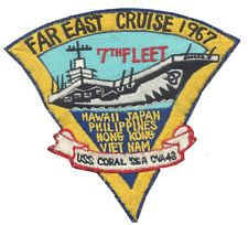 '[USS CORAL SEA TRIBUTE SITE]' from the web at 'http://www.usscoralsea.net/images/vtn_1967cruisepatchronunk.jpg'