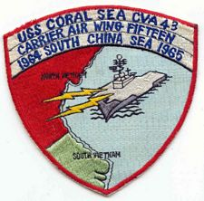 '[USS CORAL SEA TRIBUTE SITE]' from the web at 'http://www.usscoralsea.net/images/vtn_6465strikepatch.jpg'
