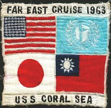 '[USS CORAL SEA TRIBUTE SITE]' from the web at 'http://www.usscoralsea.net/images/vtn_coralseapatch63.jpg'