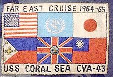 '[USS CORAL SEA TRIBUTE SITE]' from the web at 'http://www.usscoralsea.net/images/vtn_cruise3.jpg'