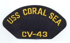 '[USS CORAL SEA TRIBUTE SITE]' from the web at 'http://www.usscoralsea.net/images/vtn_cv43patch2.jpg'