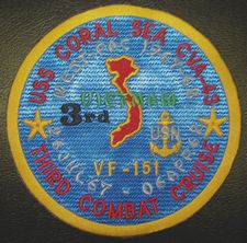 '[USS CORAL SEA TRIBUTE SITE]' from the web at 'http://www.usscoralsea.net/images/vtn_cva431968VF-151sd.jpg'