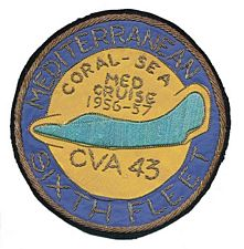 '[USS CORAL SEA TRIBUTE SITE]' from the web at 'http://www.usscoralsea.net/images/vtn_cva435657medcruisepatch.jpg'