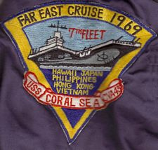 '[USS CORAL SEA TRIBUTE SITE]' from the web at 'http://www.usscoralsea.net/images/vtn_fareast1969he.jpg'