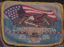 '[USS CORAL SEA TRIBUTE SITE]' from the web at 'http://www.usscoralsea.net/images/vtn_lineofdeathpatch.jpg'