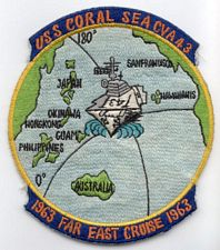 '[USS CORAL SEA TRIBUTE SITE]' from the web at 'http://www.usscoralsea.net/images/vtn_patch1963.jpg'