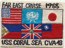 '[USS CORAL SEA TRIBUTE SITE]' from the web at 'http://www.usscoralsea.net/images/vtn_patch1965fe.jpg'