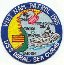 '[USS CORAL SEA TRIBUTE SITE]' from the web at 'http://www.usscoralsea.net/images/vtn_patch1965vn.jpg'