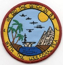 '[USS CORAL SEA TRIBUTE SITE]' from the web at 'http://www.usscoralsea.net/images/vtn_patch83ditchdn.jpg'