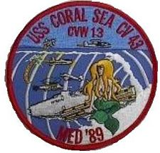 '[USS CORAL SEA TRIBUTE SITE]' from the web at 'http://www.usscoralsea.net/images/vtn_patch89med.jpg'
