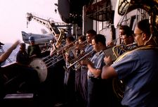 '[USS CORAL SEA TRIBUTE SITE]' from the web at 'http://www.usscoralsea.net/images/vtn_web_cva431964unrepband.jpg'