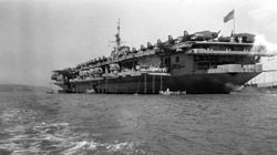 '[USS CORAL SEA TRIBUTE SITE]' from the web at 'http://www.usscoralsea.net/images/vtn_web_cvb431948MidshipmenJH.jpg'