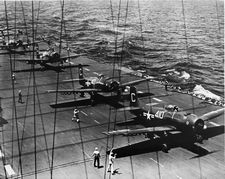 '[USS CORAL SEA TRIBUTE SITE]' from the web at 'http://www.usscoralsea.net/images/vtn_web_cvb431948flightdeckrl.jpg'