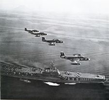 '[USS CORAL SEA TRIBUTE SITE]' from the web at 'http://www.usscoralsea.net/images/vtn_web_cvb4321jun1951VF-12F2H-2.jpg'