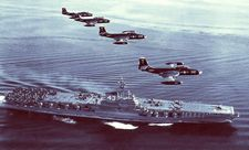 '[USS CORAL SEA TRIBUTE SITE]' from the web at 'http://www.usscoralsea.net/images/vtn_web_cvb4321jun1951VF-12F2H-2color.jpg'