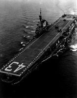 '[USS CORAL SEA TRIBUTE SITE]' from the web at 'http://www.usscoralsea.net/images/vtn_web_cvb43Dec1947trials.jpg'