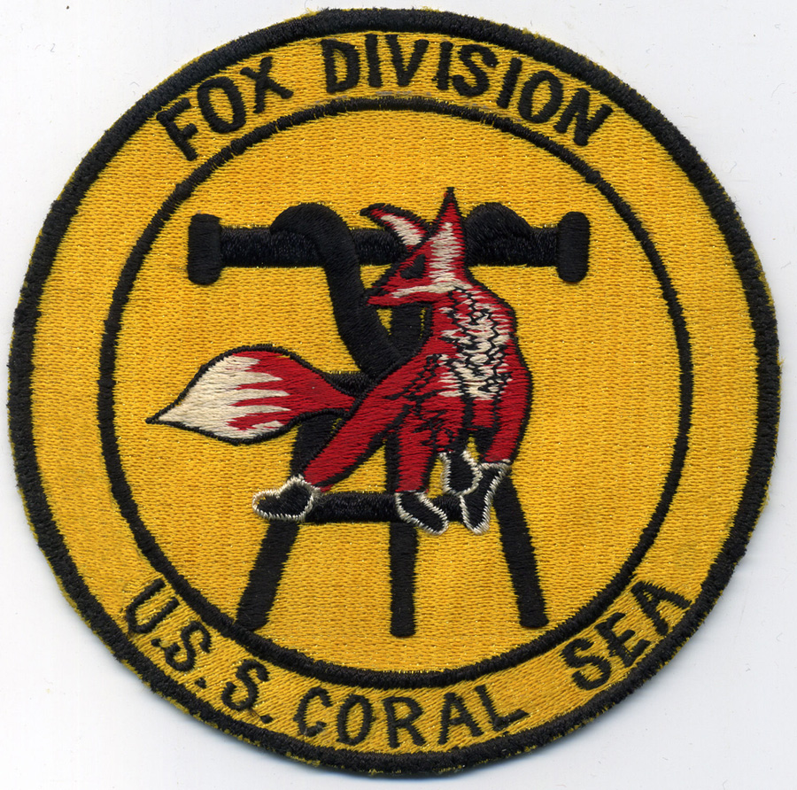 ' ' from the web at 'http://www.usscoralsea.net/images/wdlate60sFpatch.jpg'